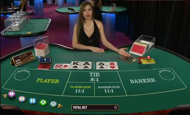 banker baccarat win